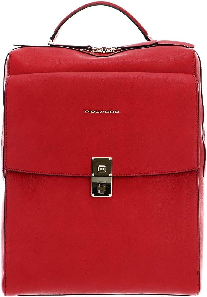 Piquadro dafne , zaino rfid in pelle , 37 cm , scomparto laptop e porta documenti