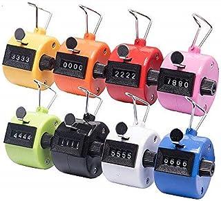 Tebery - Juego de 8 contador de mano de 4 dígitos, contadores mecánicos de clic, contador de click, varios colores, contador de mano para deportes, estadio/entrenador y otros eventos