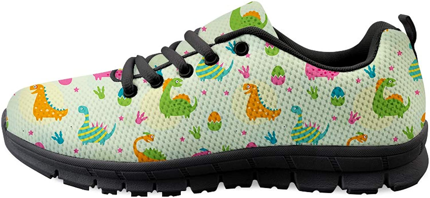 Owaheson Lace-up Sneaker Training shoes Mens Womens Jurassic Dinosaur Gathering