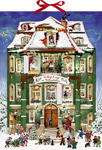 Alison Gardiner victorien The Coppenrath musical Calendario dell'avvento, in cartone, grande calendario dell'avvento con 24 porte che si aprono