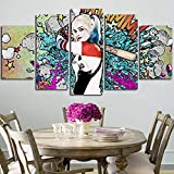 Kunstdrucke Poster Wand HD Moderne Gemälde Modular 5 Stück/Stück Leinwand Bild Home Decoration Wohnzimmer Artwork(size)