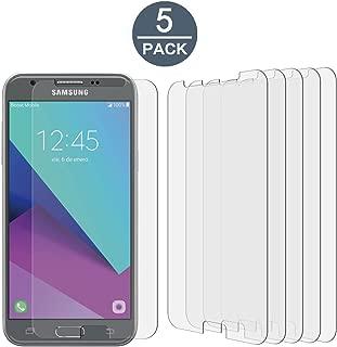 [5 Pack] Samsung Galaxy J3 Emerge / J3 (2017) / J3 Prime / J3 Luna Pro High Defintion Ultra Clear Screen Protector Film(Not Glass) for Galaxy J3 Emerge(HD Clear)