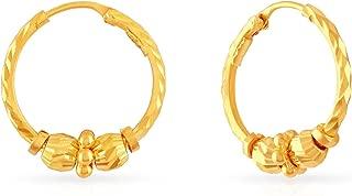 Malabar Gold & Diamonds 22KT Yellow Gold Hoop Earrings for Women