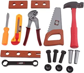 Hli-SHJHsmu 18PCS Tool Box Durable Kids Tool Set Pretend Play Construction Tool Kit Hammer Screwdriver Assorted Tools Set