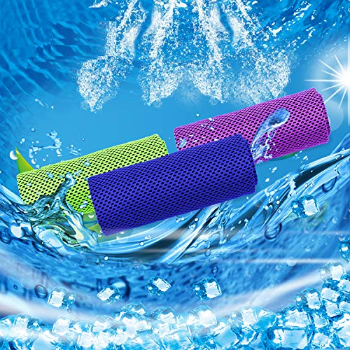 """Tagefa 40""""x 12"""" Cooling Towel for Neck, Breathable Cool Workout Cold Towels for Gym, Yoga, Sports, Fitness, Travel, Outdoor"""