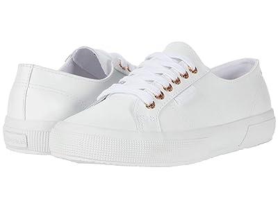 Superga 2750 Nappaleau Sneaker (White/Rose 1) Women