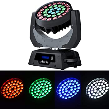 Boudler Pro 36x10W RGBW (4 in1) LED Moving Head Wash Beam Stage Light Spotlight Lamp 14CH DMX512 RGBW for Disco DJ Club Christmas Birthday Wedding Party Stage Light (1)