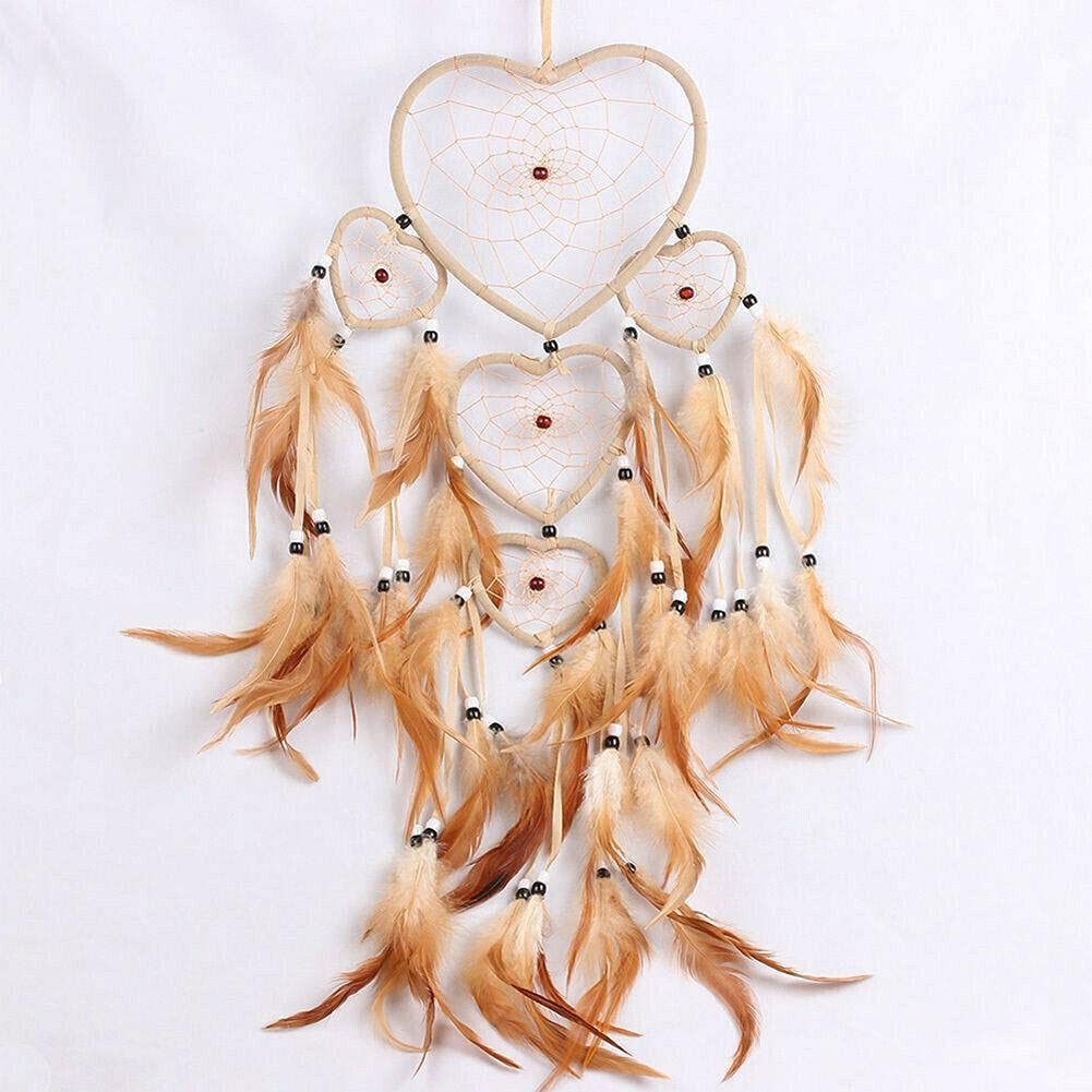 Dream All stores are sold Catcher with Feathers Bombing free shipping Bead Car Wall Hanging Orn Decoration