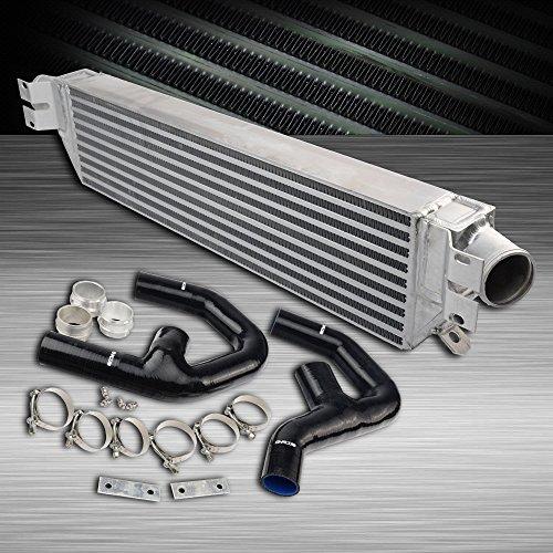 For VW GOLF MK5 MK6 GTI FSI JETTA 2.0T /For AUDI A3 Twin Turbo Aluminum Turbo Intercooler Kit + Intercooler Pipe Black