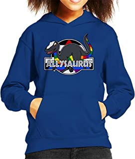 Cloud City 7 Allysaurus Pride Dinosaur Kid's Hooded Sweatshirt