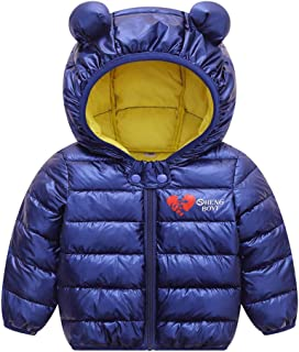 0-3 Months Baby Girl Boy Clothes,Toddler Baby Boys Girls Winter Heart Windproof Coat Hooded Warm Outwear Jacket