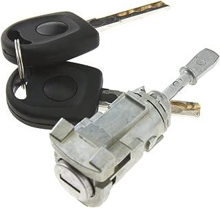 Car Front Door Lock Barrel Set Left with 2 Keys For VW Golf MK4 OEM 1U0837167