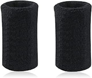 Mcolics 6' Inch Wrist Sweatband in 11 Athletic Cotton Wristbands Armbands (1 Pair)