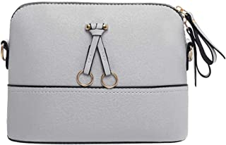 Everpert Women Shell Bag Patchwork Crossbody Bags Shoulder Messenger Leather Handbag