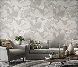 3D Modern Behang PVC Solid Geometrie Off-White Behang Achtergrond Roll Decoratie Slaapkamer TV Muur Woonkamer -53 cm (B) x...