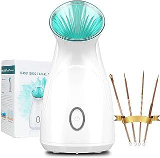 Facial Steamer for Face, 100ML Nano Face Steamer 10s Instant Strong Warm Mist Sprayer- 20X Penetration Face Humidifier for...