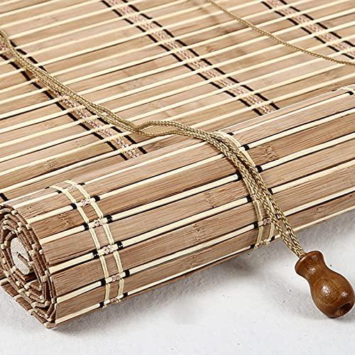 Estores de bambú Persiana enrollable de bambú de estilo retro Rollo bambú Ventanas natural Bamboo Blind para Ventana protector solar para ventanas y puertas Sombrilla,Personalizable (110 x 280 cm)