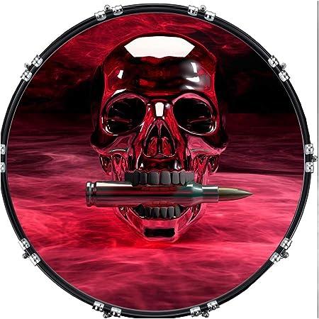 Custom Aquarian 22 Bass Kick Drum Head Front Drumskin Pirate Last Stand