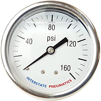"Llenos de aceite Medidor De Presión 2000 Psi 2-1//2 /""Dial 1//4 Npt montaje trasero g7122-2000"