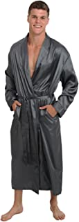 Men's Lightweight Satin Robe, Long Kimono