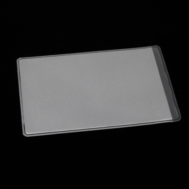 (Aideaz) 両面 ダブル ポケット 薄型 防磁 ビニール ID カード ケース スリーブ ホルダー (横挿入 100枚)