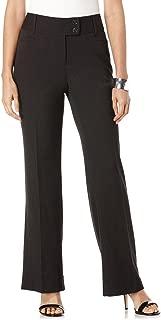 Women's Curvy Fit Gabardine Boot Leg Trouser