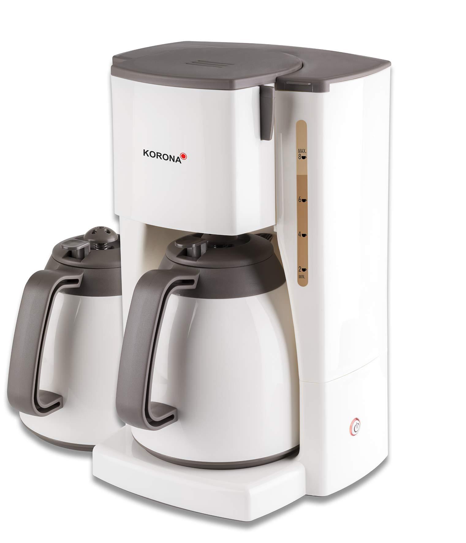 Korona - Cafetera con jarra térmica Thermokaffeeauotmat 2 Kannen crema-marrón: Amazon.es: Hogar