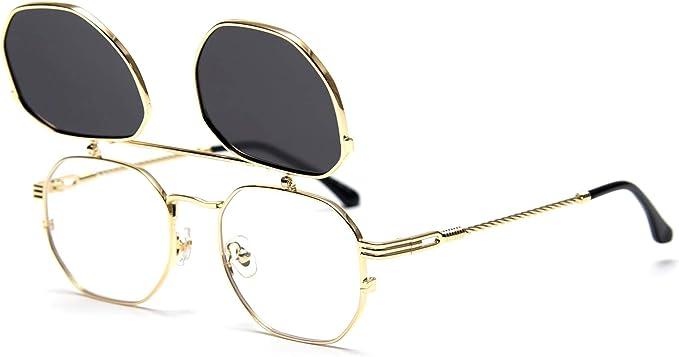 Steampunk Clothing, Fashion, Costumes Dollger Flip Up Sunglasses Men Women Polarized Steampunk Flip Sunglasses with Double Lenses  AT vintagedancer.com