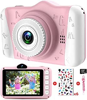 Kindercamera - digitale camera kinderen met 3,5 inch groot scherm 1080p HD 12MP ingebouwde 32GB SD-kaart USB oplaadbare se...