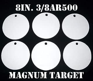 8in. AR500 Shooting Targets - 3/8Thk Pistol/Rifle Targets - 6pc Steel Target Set