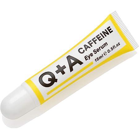 Q+A Caffeine Eye Serum. An eye serum to boost circulation and de-puff the under eye area. 15ml/0.5fl.oz