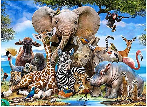 NOBRAND Puzzle 1000 Piezas, Juegos Interactivos Familiares, Rompecabezas de Elefante para Adultos y Niños
