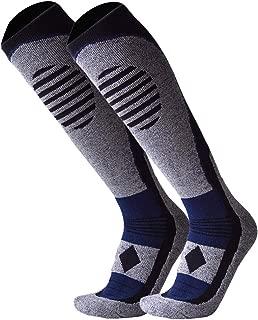 GUUMOR Ski Socks 2 Pairs for Men Women Over Calf Thicken Warm Snowboarding Socks Winter Skiing Socks