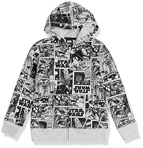 Amazon Essentials Disney Marvel Fleece Zip-Up Sweatshirt Hoodies Felpa, Star Wars Comic, 2 Anni