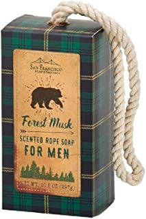 San Francisco Soap Company Forest Musk Soap On A Rope, 10.5 Ounce