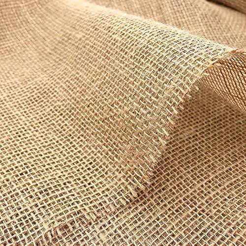 Hosaud Juteband natuur voor planten 160 cm x 500 cm jute wikkelstrip DIY decoratieve band tafelband juteweefsel geschikt bescherming van tuinbomen struiken antivriesmiddel en vorst en dierlijke beten 33