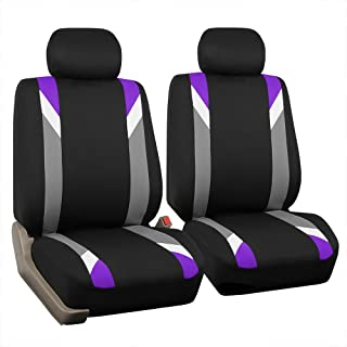 FH Group FB033PURPLE102 Bucket Seat Cover (Modernistic Airbag Compatible (Set of 2) Purple)