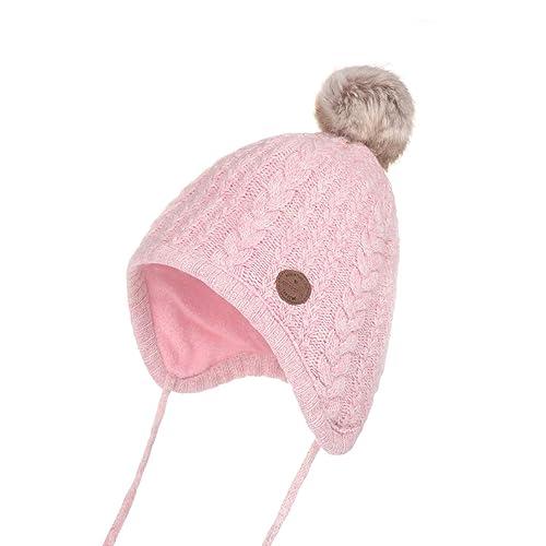 dfd94d536fd Jastore Baby Boy Girl Cute Crochet Beanie Earflaps Hats Infant Knit Winter  Warm Cap