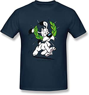 Men's Casual T-Shirt Asterix & Obelix Dogmatix Laurel Wreath Style Round Neck Short Sleeves Tees