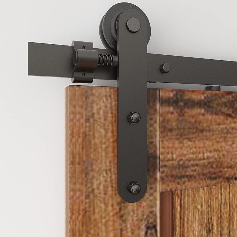 CCJH 200cm/6.6FT Herrajes Puertas Correderas Kit de Accesorios para Puertas Corredizas de Granero (Estilo de Línea)