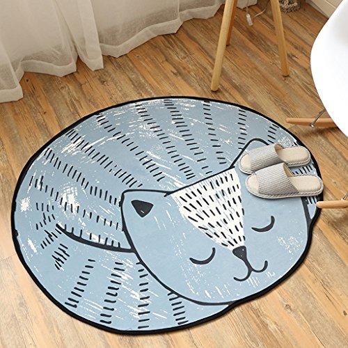 CKH ronde tapijt, fluweel, voor kinderen, slaapkamer, nachtkastje, woonkamer, mand, stoel, vloermat, leuke kamerdekbed