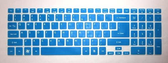 BingoBuy Semi-Blue Ultra Thin Silicone Keyboard Protector Skin Cover for Acer Aspire E1-510 E1-510P ES1-512 E5-511 E5-511P E5-521 E5-521G E1-522 E1-530 E5-531 E1-532 E1-532P E5-551 E5-551G E1-570 E5-571 E5-571G E5-571P E5-571PG E1-572 E1-572P E1-731 E1-771 E5-721 E5-731 E5-771 E5-771G V5-561 V5-561PG V5-561G V5-561P V3-571 V3-571G V15 V3-572 V3-572G V3-572P V3-572PG V3-772G V3-771 V3-771G V3-551 V3-551G V3-731 V3-731G VN7-791G series(if your
