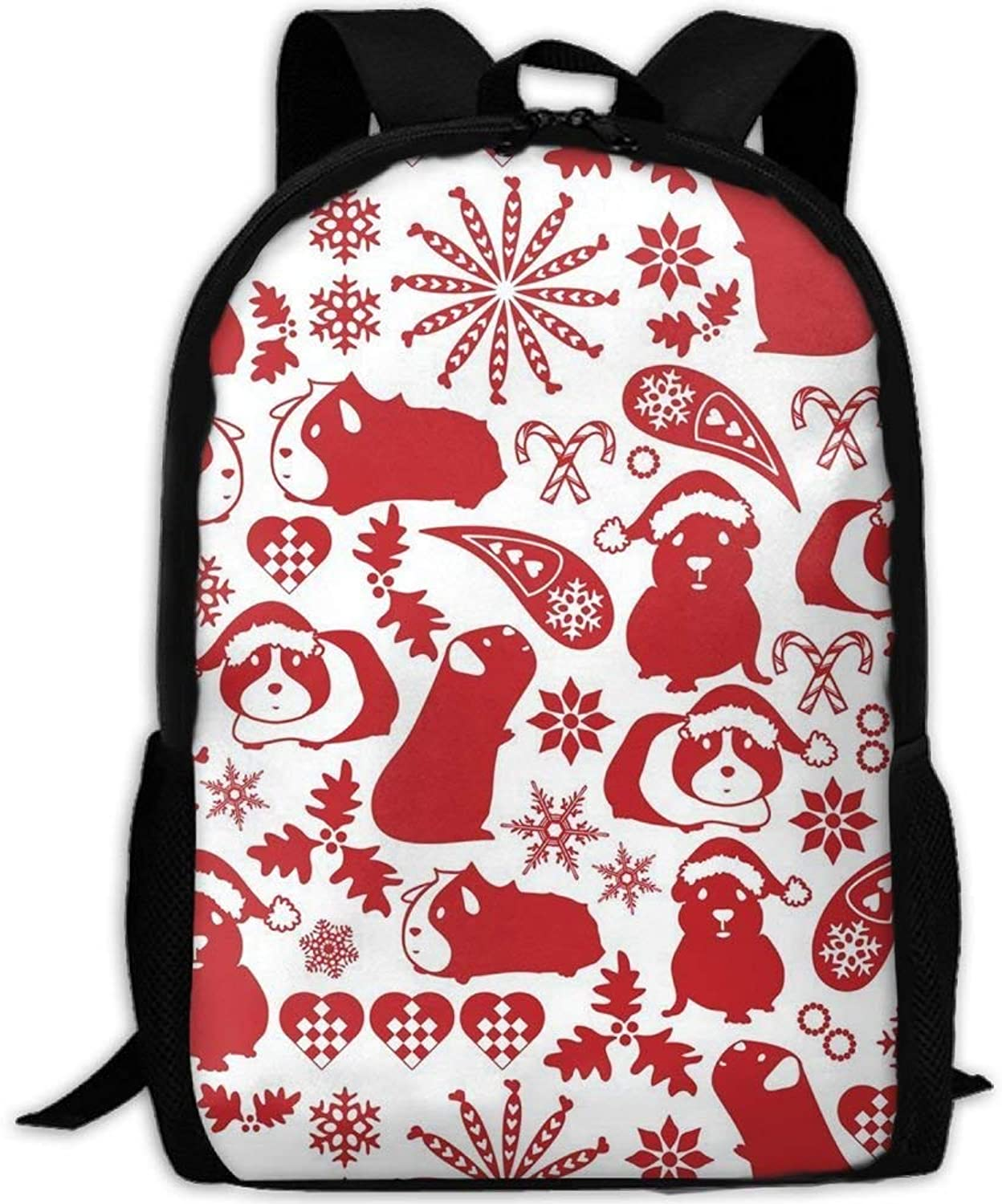 Student Backpack, School Backpack for Laptop,Most Durable Durable Durable Lightweight Cute Travel Water Resistant School Backpack - Christmas Pig B07PYG94G9  Erste Gruppe von Kunden 4094c8