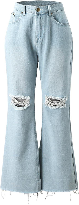 Jeans for Women High Waist, Handyulong Womens High Waisted Skinny Denim Stretch Slim Length Jeans Hole Print Legging Pants