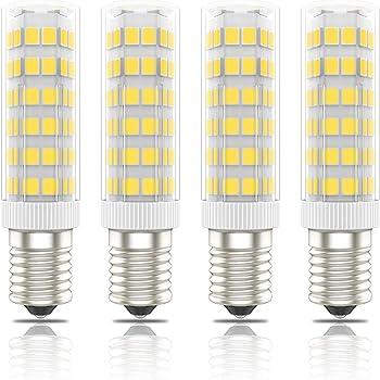Phoenix-LED E14 Bombillas Campana Extractora,Bombilla Nevera,Lámpara de Mesa 7W,60W Halógena Equivalente, Blanco Cálido 3000K, 560lm, Pack de 4 Unidades: Amazon.es: Iluminación