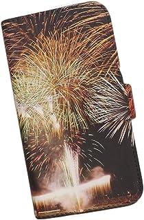 Galaxy Note9 SCV40 au スマホケース 手帳型 プリントケース スマホ 和柄 花火 夏 夜景 夜空 綺麗 きれい はなび 煙火 fireworks 華火 仕掛け よぞら 和風 風流 なつ summer サマー (s275)