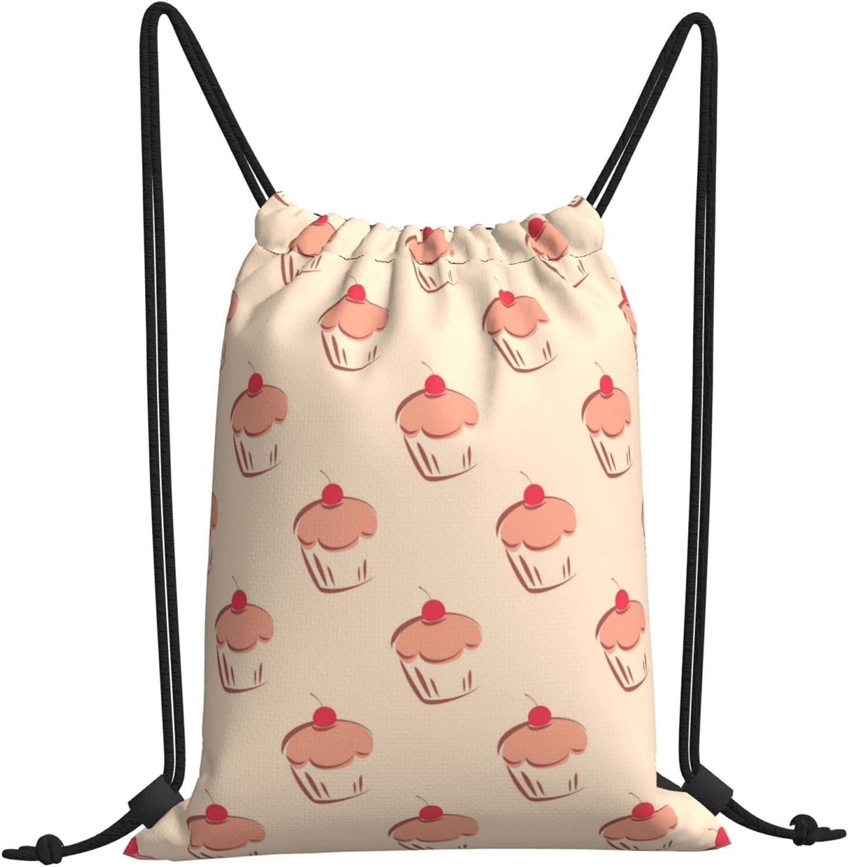 Sweet Cake Kawaii Gymnastics Drawstring Backpack Strin Bag Sale Max 81% OFF Special Price Beach