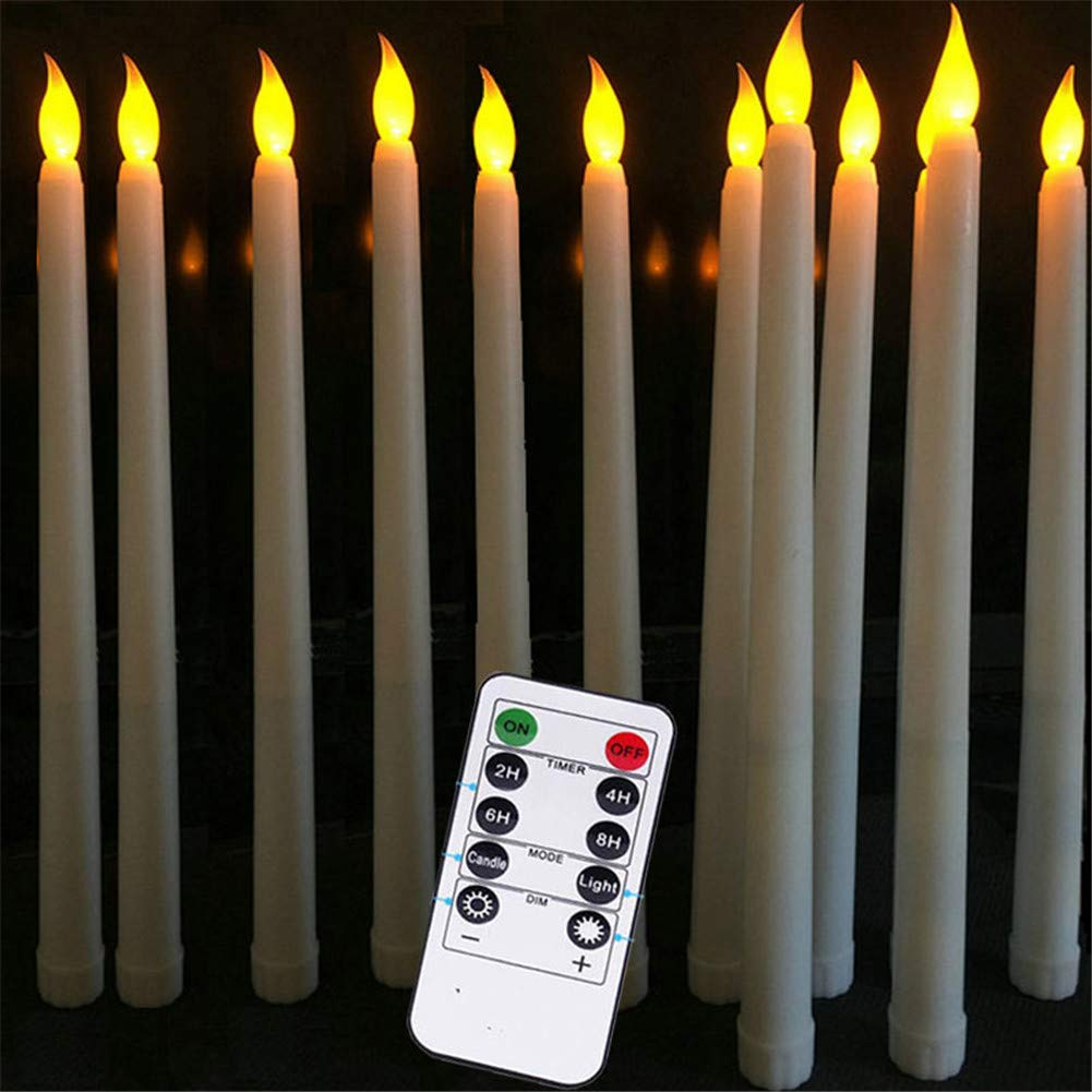 Datomarry Flameless Flickering Realistic Candlestick