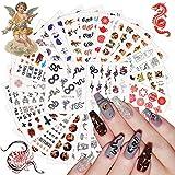 Kalolary 24 Blatt Schlange Nagelsticker Nagelaufkleber Selbstklebende Wassertransfer Nail Art Sticker Fingernägel Schablone Nagel Tattoos Aufkleber Nageldesign für Mädchen Frauen