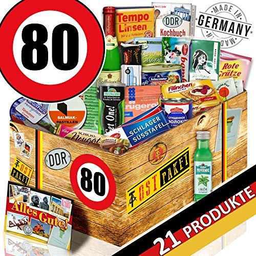 DDR Box / Spezialtiäten Geschenkset / 80 Geburtstag / Geschenk Korb Mama